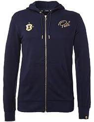 Pele Sports Hoody Zip - Sudadera, color azul, talla S