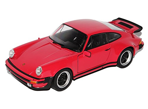 Turbo Modell 911 Porsche (Porsche 911 G-Modell Turbo Fraise Rot Coupe 1973-1989 1/24 Welly Modell Auto mit individiuellem Wunschkennzeichen)