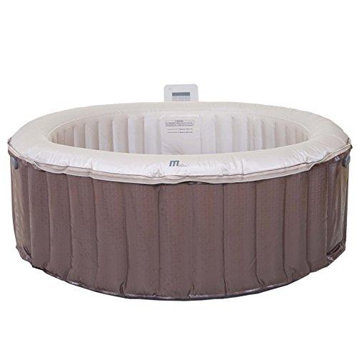 Mendler Whirlpool MSpa HWC-A62, 4 Personen In-/Outdoor Massage heizbar aufblasbar Ø 180cm FI-Schalter