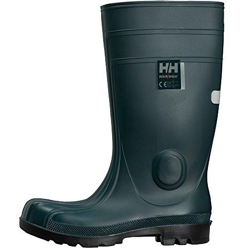 Helly Hansen Mens Vollen PVC Shock Absorbing S5 SRC Work Safety Boots Dunkelgrün