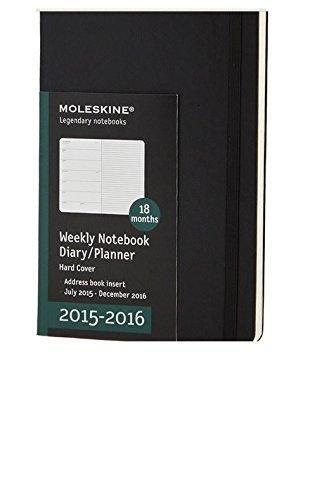 Moleskine 2015 2016 Calendar Weekly Notebook Diary Planner Hard Cover Calendar Book by Moleskine (2015 Weekly Notebook)