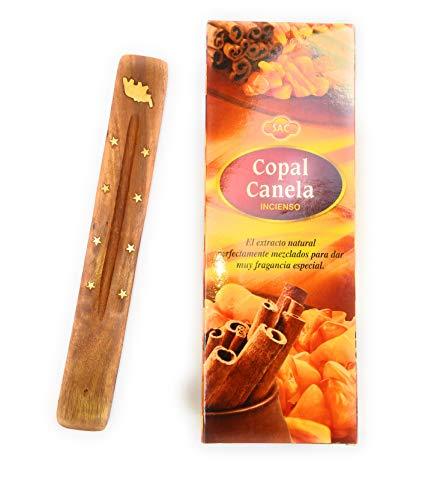 Incienso de Copal palo santo SAC, 120 varillas, calidad superior + un tabla quemador de regalo kenta