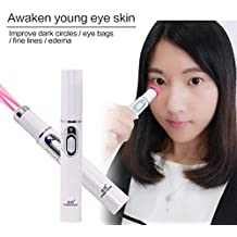 Shoppy Shop Drop Ship Skin Care Red Light Laser Pen Portable Eye Bags Fine Lines Edema Removal Eye Circles Remover Therapy Pen Massage Relax