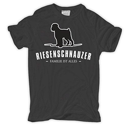 Männer und Herren T-Shirt Riesenschnauzer - Familie ist Alles Größe S - 8XL Körperbetont grau
