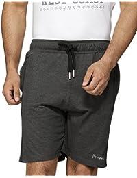 Perroni Men's Cotton Shorts, Dark Grey