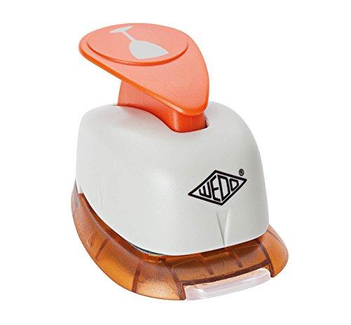 Wedo 168101 Motivlocher (mit praktischem Auffangbehälter, Ausstanzung) grau/orange