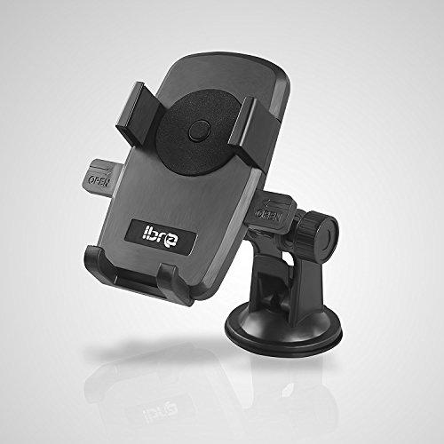 IBRA® Windschutzscheibe Armaturenbrett Universal KFZ Halterung für iPhone 7Plus/7/6Plus/6/5/5S/5C/4s/4, Galaxy S5/S4/S3/S2 | 360 Grad Drehbar (Verwenden Z10 Blackberry Sie)
