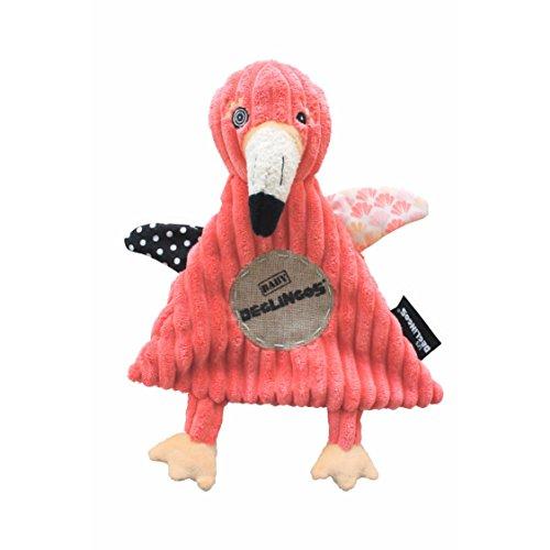 Doudou Plat Baby Flamingos le Flamant Rose - LES DEGLINGOS