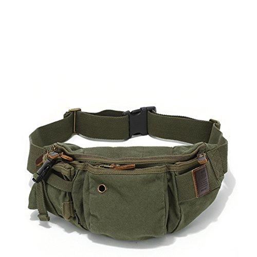 Bumbag/Canvas Tasche/Herren-Brust-Tasche/Outdoor-Freizeit single Schulter Sporttasche/ multifunktionale liegenden Handtasche-B B