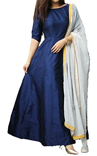Salwar suits Dresses And Dress Materials for women party Wear Collections With Heavy Tapeta Silk Neavy Blue Dresses For Girls And Women Gown western wear