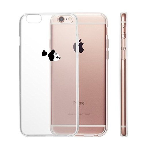 iPhone 6S Hülle, Yimier® transparentes TPU Case Silikon der Tiere Backcover Handyhülle kreatives Design Panda Muster bedecken zurück für Apple iPhone 6 / 6s 4,7 Zoll 5