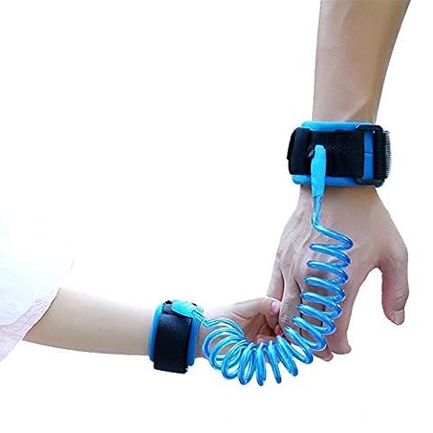 niceEshop(TM) Child Anti Lost Safety Wrist Link Belt,Safety Harness Strap Leash Walking Hand Belt,Blue