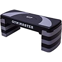 Gym Master Adjustable Aerobic Stepper Home Cardio Workout Equipment - 5 Level