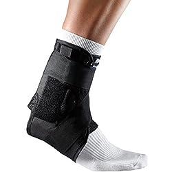 LP Support 597 Sprunggelenkbandage mit Stabilisierungsbändern, Knöchel-Bandage, Fuß-Stütze für Sport und Alltag, 597 Knöchel-Bandage, Fußgelenks-Orthese, Größe:M, Farbe:schwarz