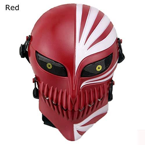 Spielen Kostüm Bleach - VAWAA Tod Bleichmaske Halloween Maskerade Schädel Cosplay Kostüme Cs Krieg Spiel Taktische Requisiten