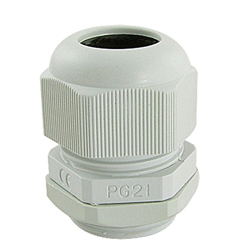 5PCS Wasserdicht PG21Kunststoff Kabel Stecker Weiß - Kunststoff-appliance