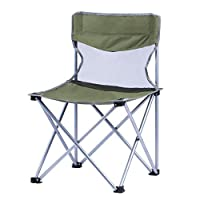 ZOUQILAI Metal Foot Folding Chair Office Simple Chair Outdoor Sketching Stool Outdoor Portable Fishing Small Horse