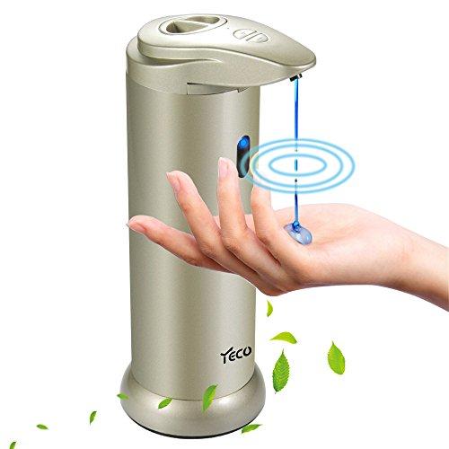 Automatischer Seifenspender, YECO Seifenspender mit Infrarot Sensor,Touchless Seifenspender mit wasserdichtem Gehäuse,gebürstetem Edelstahl Ideal für Badezimmer oder Küche.