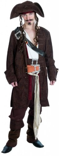 RUM SMUGGLER PIRATE Adult Fancy Dress Costume All Sizes