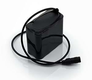 KK-SPORTS Batterie de Remplacement pour CREE Phare et Lumière de Vélo (4-cell)
