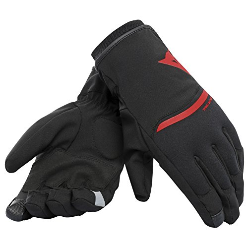 DAINESE Plaza 2 D-Dry Guanti, Unisex, Rosso, XXS