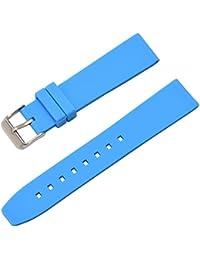 28664c1dc793 reloj de silicona banda de luz de goma azul correa impermeable y  transpirable hebilla de acero de 28 mm reloj.