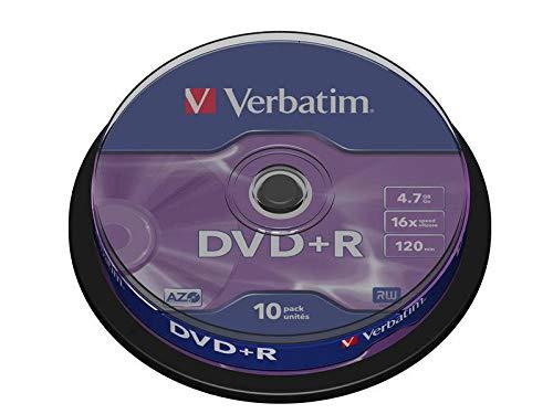 Verbatim 43498 DVD+R 16x Speed 10er Spindel DVD-Rohlinge