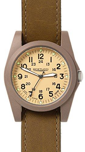 Bertucci 13365Unisex in policarbonato marrone nylon Band Patrol Khaki Dial Smart Watch