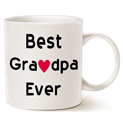 This might be Wine Christmas Gifts Best Grandpa Coffee mug–Best Grandpa Ever–unico Natale o compleanno regalo idea per nonno nonno nonno Grandpapa tazza in porcellana bianca, 396,9gram