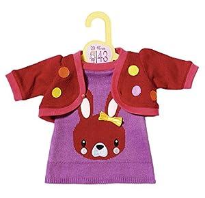 Zapf Creation 870532Dolly Moda Vestido de Punto con Chaqueta 43cm, Lila, Rojo