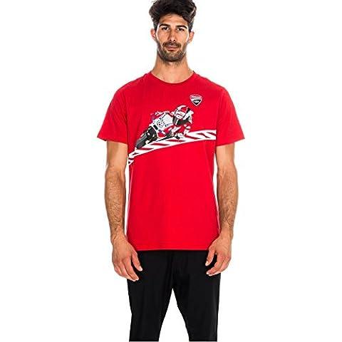 Dovizioso Cartoon Bike tè, Ducati, MotoGP, 1536020, rosso, L