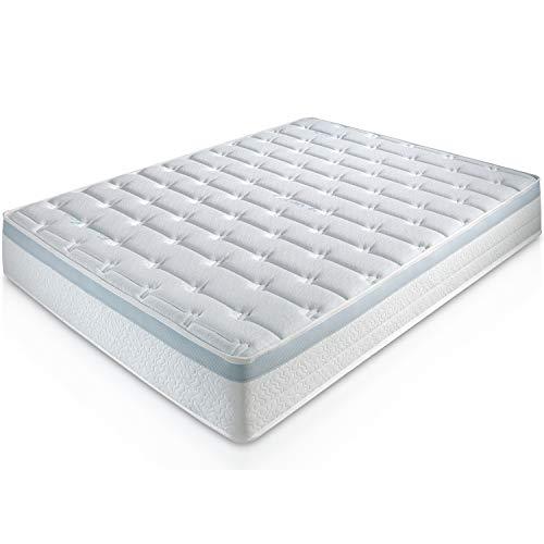 Matelas Feran Ice 90X190 à mémoire de Forme 22 cm Épaisseur + Mouse Gel Foam de 65 kg/m³ + Traitement rafraîchissant + Indépendance de Couchage + Soutien : Ferme + Extrêmement Durable