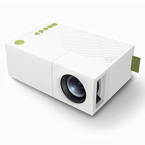 Electz Mini-Projektor 2600 Lumen Tragbarer Videoprojektor, 30000 Stunden Multimedia Heimkino-Filmprojektor, kompatibel mit TV-Stick, Full HD 1080P HDMI, VGA, USB, AV Thermische Usb-kamera