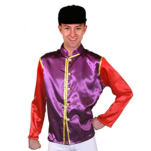 seemeinthat Horse Racing Jockey Purple and Red Gold Queen's Colours (Small)