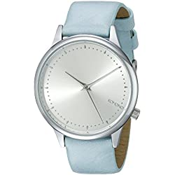Komono Women's Quartz Watch with Silver Dial Analogue Display and Blue PU Strap KOM-W2501