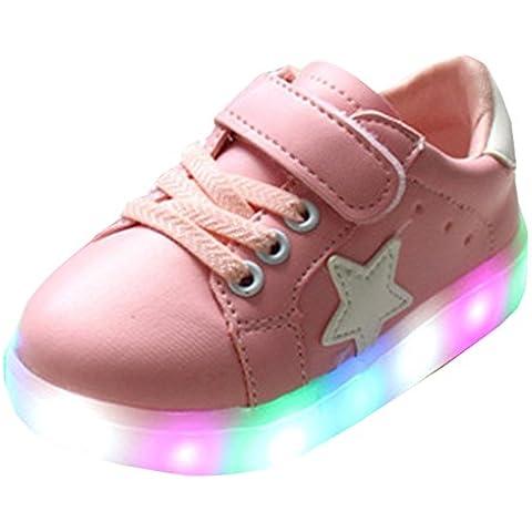 Highdas Cuero Niño Niña Prewalker Light Up Zapatos Pink EU 25