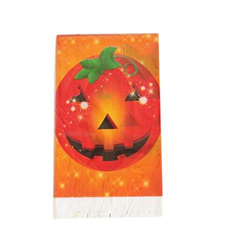 Kicode Halloween Tabelle Abdeckung Tischdecke Einweg PE Kunststoff Furchtsam Kürbis Schädelmuster Dekoration Dekor Party Zubehör