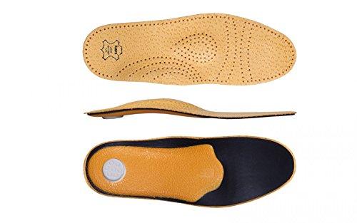 Schuheinlagen, Einlegesohlen Leder, Orthopädische Einlagen, Relax - No. 30102 Einzelgroesse 46 (Einlegesohlen Flache)