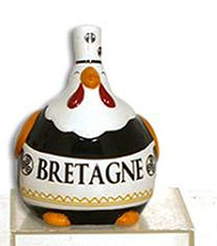 Collection Les Petites Cocottes Poule Deco CERAMIQUE Noir 15cm Bretonne Coiffe BIGOUDENE DE Bretagne - 012169