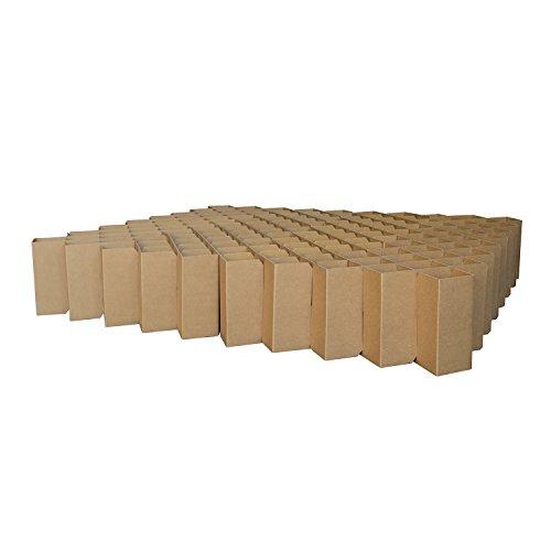 ROOM IN A BOX | Bett 2.0 L/N: Nachhaltiges Klappbett aus Wellpappe in der Größe 180 x 200 cm und alle Zwischengrößen. Ideal auch als praktisches Gästebett, da leicht verstaubar und ein Lattenrost nicht benötigt wird.