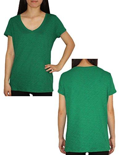Designer Brand - T-shirt - Femme - Green & Rose