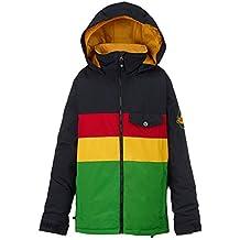 Burton Symbol Jacket–Cazadora de snowboard, otoño/invierno, niño, color Rasta, tamaño XL