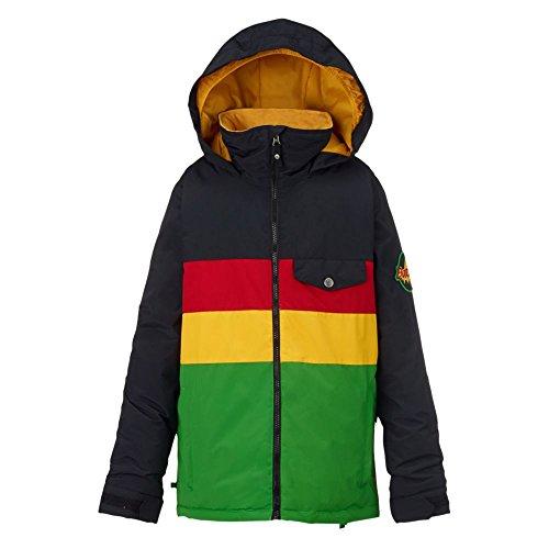 Burton Symbol Jacket–Cazadora de Snowboard, otoño/Invierno, niño, Color Rasta, tamaño M
