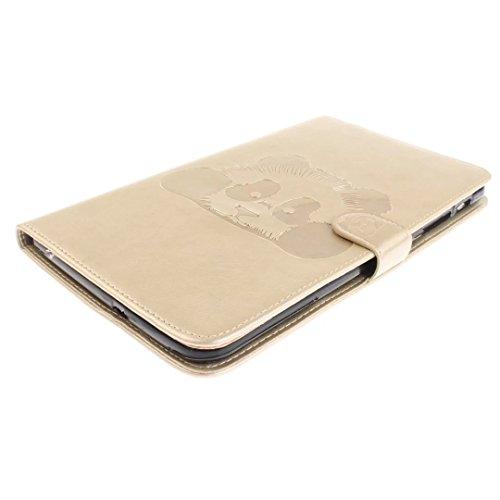 Vandot Smart Housse Case Coque étui pour Samsung Galaxy Tab 4 8.0 Pouces SM-T330 T337 Tablette Coque avec Support et fermeture magnétique et Carte Slots Ultra Slim Léger Smart Cover Case Flip étui en  Tablet-Panda-4