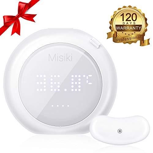Misiki Fieberthermometer Kinder Baby Thermometer 24-h intelligentes Digital Körpertemperatur Monitor, Fieber Thermometer Wearable Tragbar Fieberalarm für Erwachsene Kleinkind Säugling ROHS/FDA