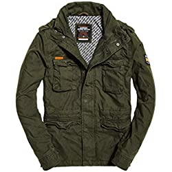 Superdry Classic Rookie Military Jacket, Abrigo para Hombre, Verde (Forest Night Tdf), X-Large