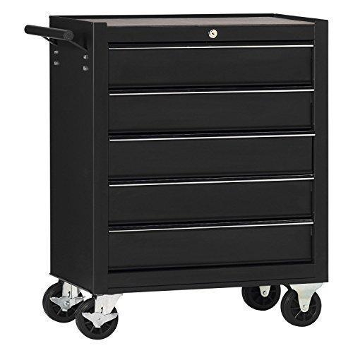 Werkstattwagen, einfach mit 5 Schubladen, schwarz