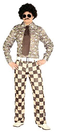 The Bunch Brady Kostüm - Fancy Me Herren braun 1970s Brady Bunch TV Film Schauspieler Kostüm Kleid Outfit Größe L - Braun, Large