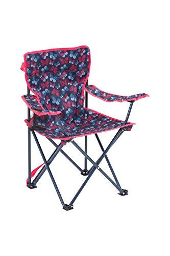 Mountain Warehouse Gemusterter Miniklappstuhl Kinder faltbar Camping Jungen mädchen 2 Farben Rosa