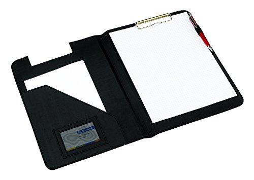 Aktenmappe Schreibmappe schwarz mit integriertem Klemmbrett Portfolio A4